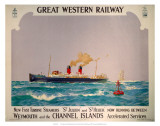 New Fast Turbine Steamers, GWR, c.1923-1947 Posters