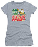 Juniors: Garfield-Excused Forever T-shirts