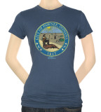 Juniors: Parks & Recreation-Distressed Pawnee Seal T-shirts