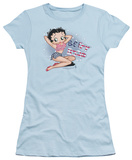 Juniors: Betty Boop-All American Girl Shirts