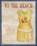 To the Beach Poster by Paul Brent