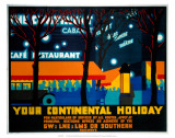 Your Continental Holiday, GWR/LMS/LNER/SR, c.1932 Poster by Irwin Brown