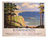 Bourenmouth: Britains All-Season Resort, BR, c.1950s Prints