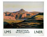 Western Scotland, LNER/LMS, c.1935 Prints