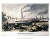 View on the Midland Railway, Cyclops Steel Works, Sheffield, c.1845 Prints