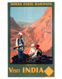 Indian State Railways: Visit India Posters