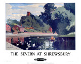 The Severn at Shrewsbury, BR, c.1950s Prints