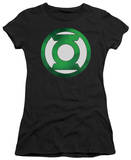 Juniors: Green Lantern-Green Chrome Logo T-shirts