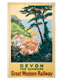Devon for Sunshine, GWR, c.1923-1947 Prints
