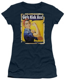 Juniors: Girls Kick Ass Shirt