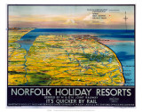 Norfolk Holiday Resorts, M&GN/LNER/LMS, c.1936 Prints