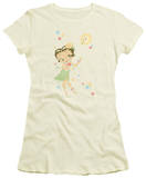 Juniors: Betty Boop-Hula Flowers Shirts