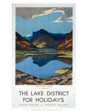The Lake District for Holidays, LMS, c.1923-1939 Affiches