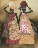 Village Women II Poster von Carol Robinson