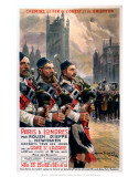 Scots pipers, LBSCR, c.1907 Prints by Maurice Toussaint