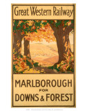 Marlborough for Downs & Forest, GWR, c.1927 Poster