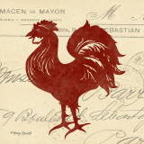 Tuscan Rooster III Art by Sharyn Sowell