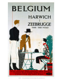 Belgium, Harwich, Zeebrugge, LNER, c.1923-1947 Poster