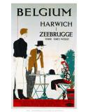 Belgium, Harwich, Zeebrugge, LNER, c.1923-1947 Posters