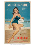 Morecambe for First Class Holidays, BR, c.1960 Poster