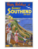 Sunny Southend-on-Sea, LNER/LMS, c.1940s Prints