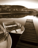 Row Boat Awaits Art by Danita Delimont