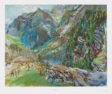 Maloja Print by Oskar Kokoschka