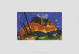Two Cats, c.1913 Prints by Franz Marc