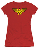 Juniors: DC-Wonder Woman Logo T-shirts