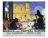 Munich and Central Europe, LNER, c.1929 Poster