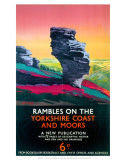 Rambles on the Yorkshire Coast and Moors, LNER, c.1923-1947 Print