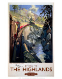 By Rail to The Highlands, BR (ScR), c.1950s Posters
