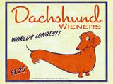 Dachshund Wieners Print by Brian Rubenacker