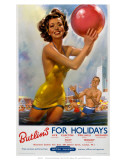 Butlin's for Holidays', BR, c.1960 Poster