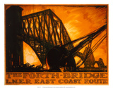 The Forth Bridge, LNER, c.1923-1947 Print by Frank Brangwyn