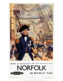 Norfolk, Nelson, Born Burnham Rectory 1758, BR (ER), c.1960 Posters