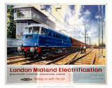 London Midland Electrification, BR(LMR), c.1960 Posters