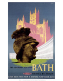 The Historic City of Bath, BR (WR), c.1958 Poster
