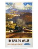 By Rail to Wales, BR, c.1960 Kunstdrucke