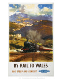 By Rail to Wales, BR, c.1960 Prints