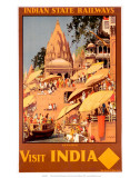Visit India, Indian State Railways, c.1930s Prints