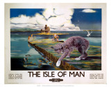 The Isle of Man, BR (LMR), c.1950 Art by Anthony Brandt