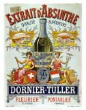 Advertisement for Dornier-Tuller absinthe, 1890 Prints