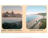 Corbiere Lighthouse, Jersey, and Budleigh Salterton, Devon, c.1910s Kunst