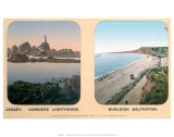 Corbiere Lighthouse, Jersey, and Budleigh Salterton, Devon, c.1910s Prints