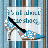 Girly Shoe I Prints by Sylvia Murray