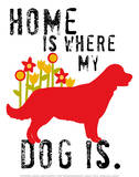 Home Is Where My Dog Is Láminas por Ginger Oliphant