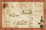 Wine Map Posters par Daphne Brissonnet