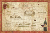 Wine Map Posters by Daphne Brissonnet