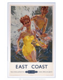 East Coast, BR (ER), c.1948-1964 Posters by Mervyn Quayle